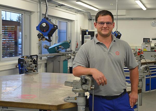 Patrick Kerschl, Ausbilder für Konstruktionsmechaniker